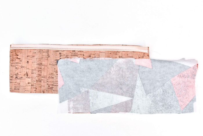 making a pouch with fusible interfacing